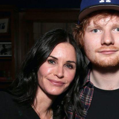 Courtney Cox újraalkotta Monica és Ross táncát Ed Sheerannel
