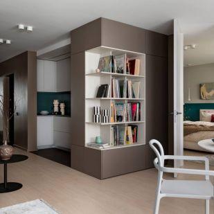 Házaspár szokatlan elosztással kialakított 74m2-es modern otthona