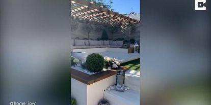 Mum saves over £25,000 by doing DIY garden renovation