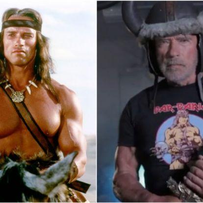 Arnold Schwarzenegger Conan, a barbárként gyúr új videójában