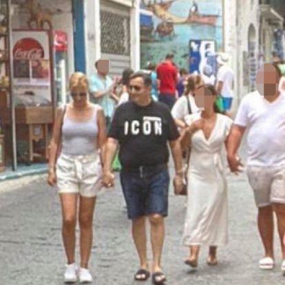 Friss fotón az Olaszországban nyaraló Mészáros Lőrinc és Várkonyi Andrea