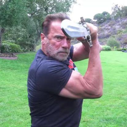 Schwarzenegger még mindig jól bánik a karddal