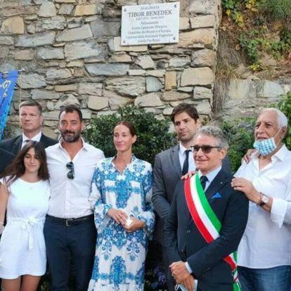 Sétányt neveztek el Olaszországban Benedek Tiborról