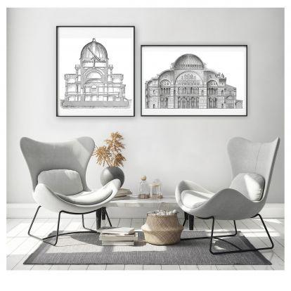 Látványos építészeti formák: 2 ingyenesen letölthető poszter júliusra