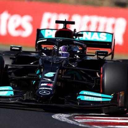 Verstappen csak a harmadik, a Mercedes elvitte az első sort a Magyar Nagydíj időmérőjén