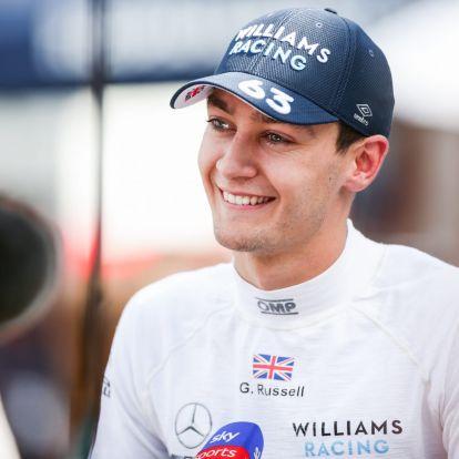 Elsírta magát Russell, miután megszerezte első pontajait a Williamsnél a Magyar Nagydíjon