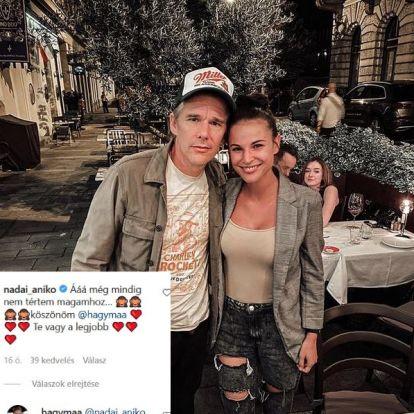 Nádai Anikó a párjának, Péternek mondott köszönetet, hogy találkozott Ethan Hawke-kal