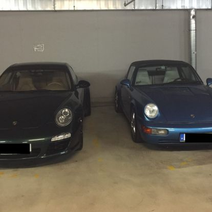 Már egy Porsche 911 Coupé is parkol Matolcsy Ádám Porsche 911 Targái mellett