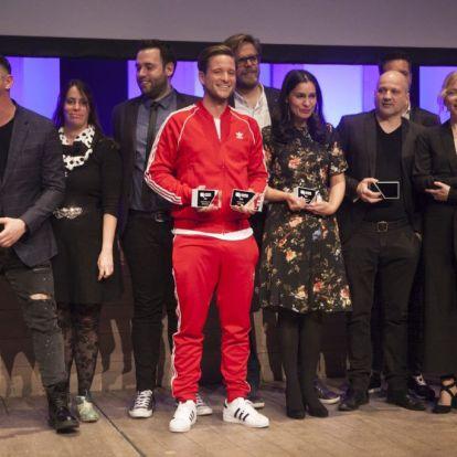 Tilla is gratulált Istenes Bence győzelméhez – mutatjuk, kik nyerték az idei Televíziós Újságírók Díjátadón
