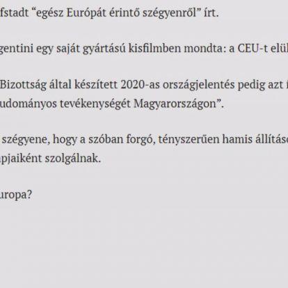 Hazugság, hogy a kormány elüldözte Budapestről a CEU-t