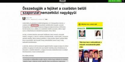 Minősíthetetlen módon ír a magyar családokról a 444