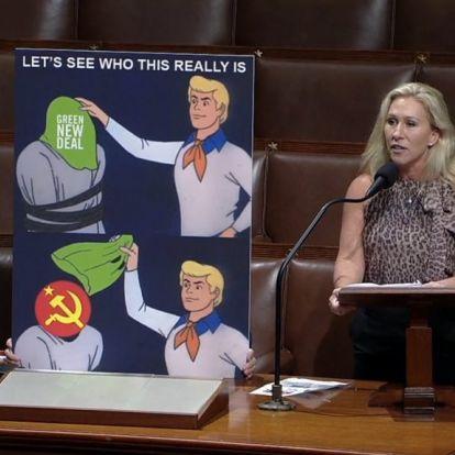 """Scooby-Doo mémmel """"leplezte le"""" az amerikai képviselő az ülésen, hogy a kínaiak állnak a zöldprogram mögött"""
