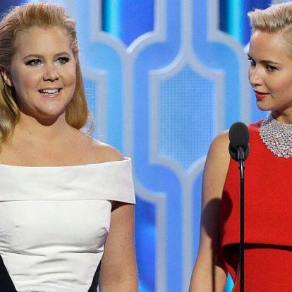 """""""Nekem nincs méhem, ő pedig terhes, de itt vagyunk"""" - Jennifer Lawrence hatalmas pocakkal tüntetett Amy Schumerrel"""