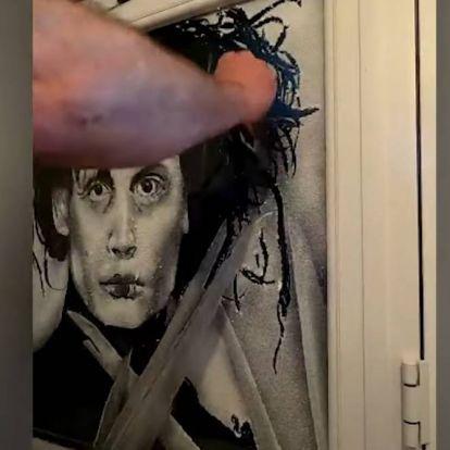 Műhóval készít félelmetesen jó portrékat egy művész